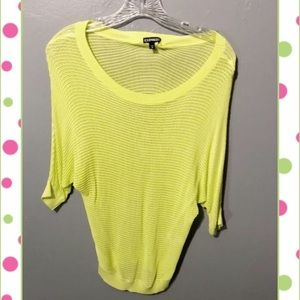 Express dolman mesh sweater and sequin tank New